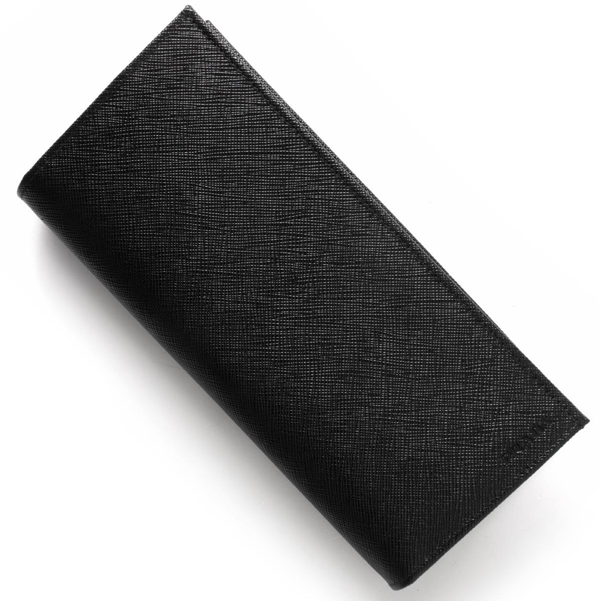 プラダ 長財布 財布 メンズ SAFFIANO ブラック 2MV836 053 F0002 PRADA