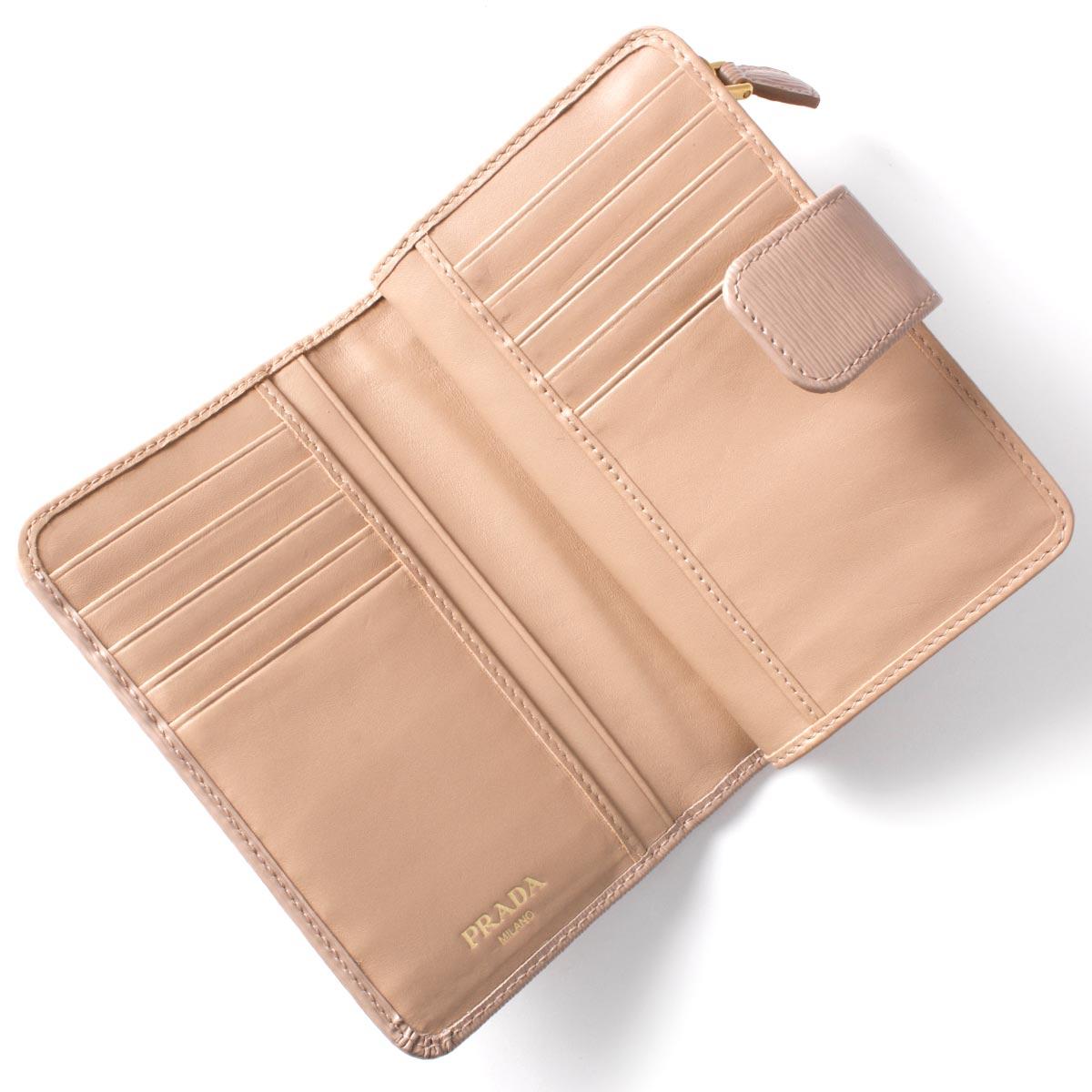プラダ 二つ折財布 財布 レディース VITELLO MOVE カメオベージュ 1ML225 2EZZ F0770 PRADA