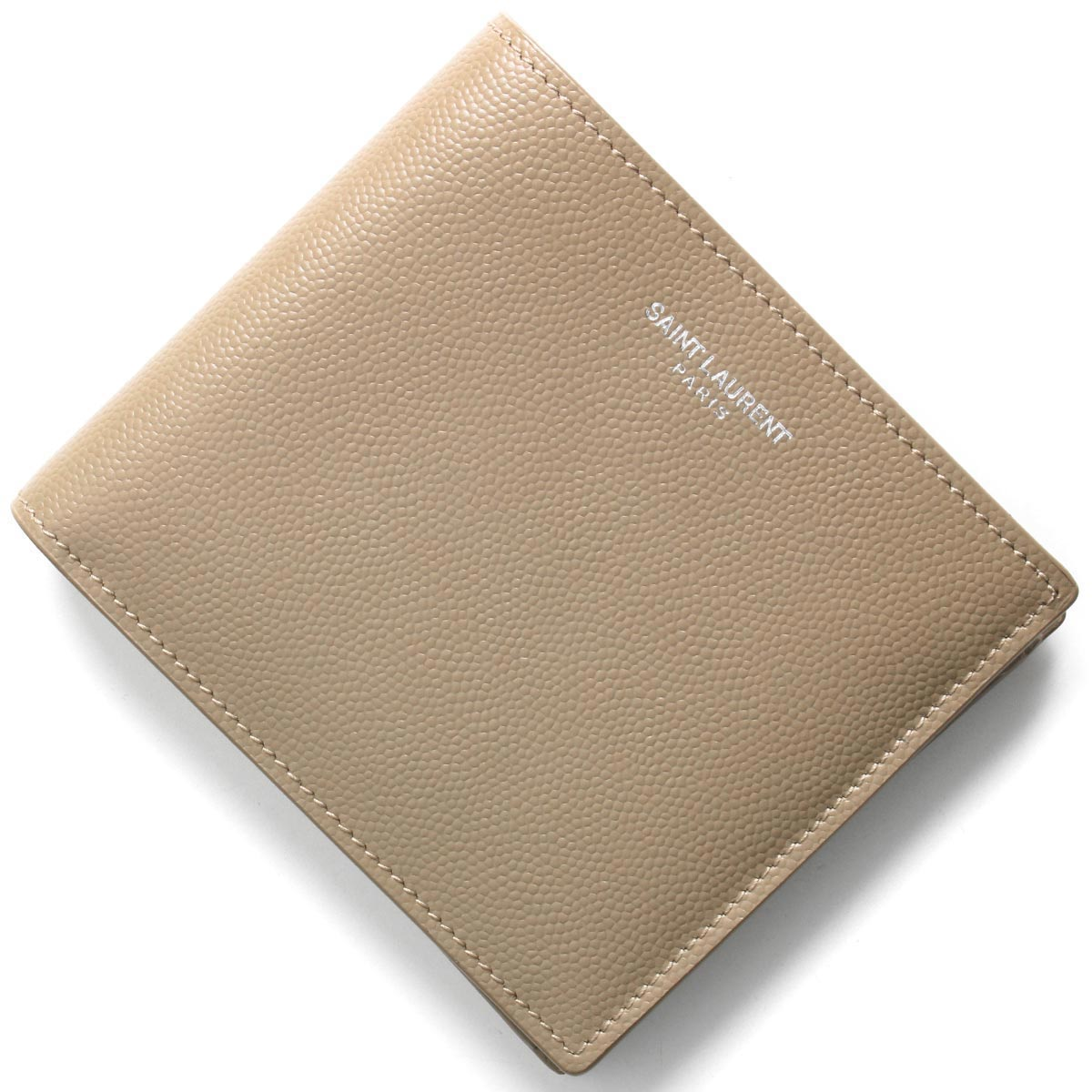 サンローランパリ イヴサンローラン 二つ折り財布 財布 メンズ レディース クラシック ダスティグレージュ 396303 BTY0N 1722 SAINT LAURENT PARIS