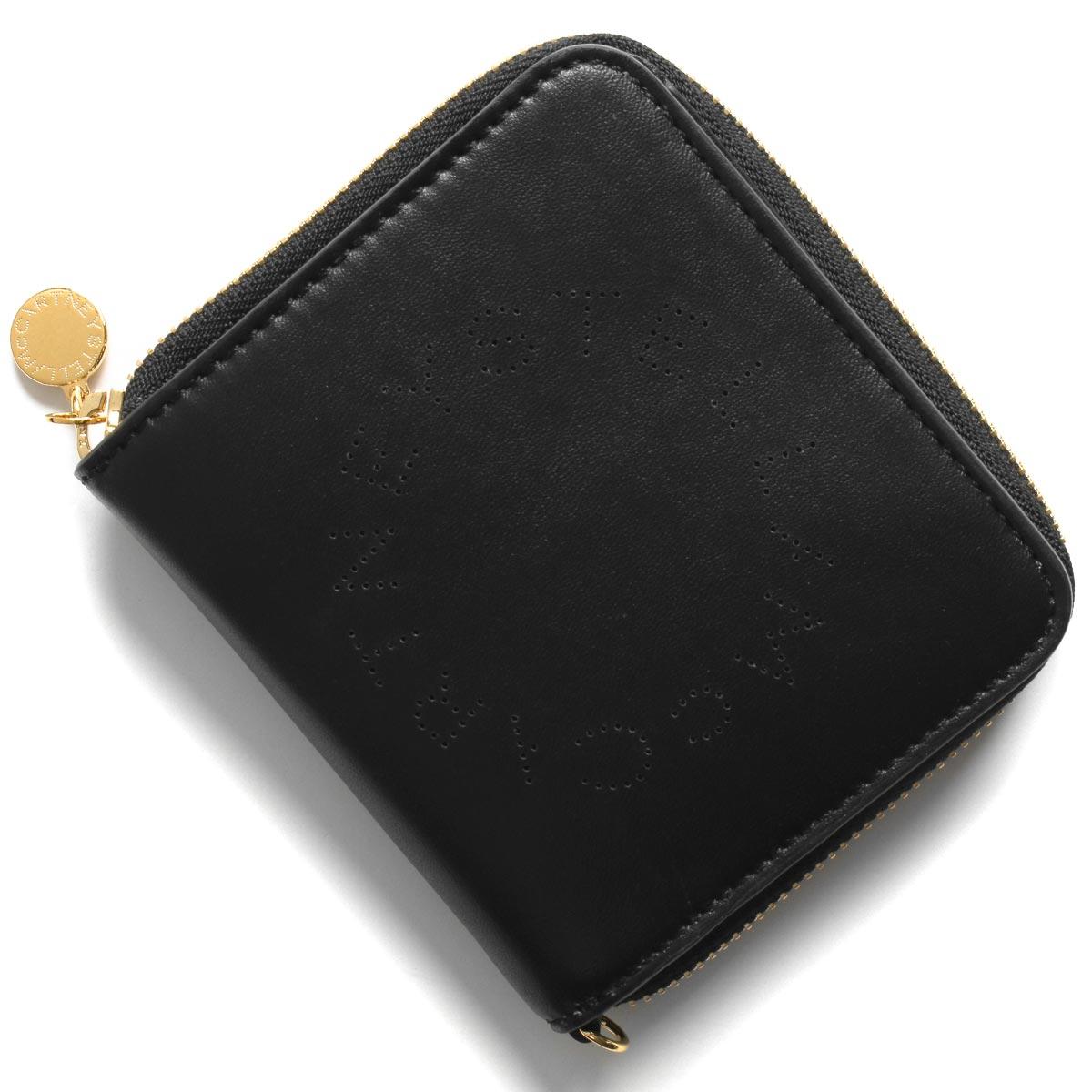 ステラマッカートニー 二つ折り財布 財布 レディース ステラ ロゴ ブラック 570269 W8542 1000 STELLA McCARTHNEY