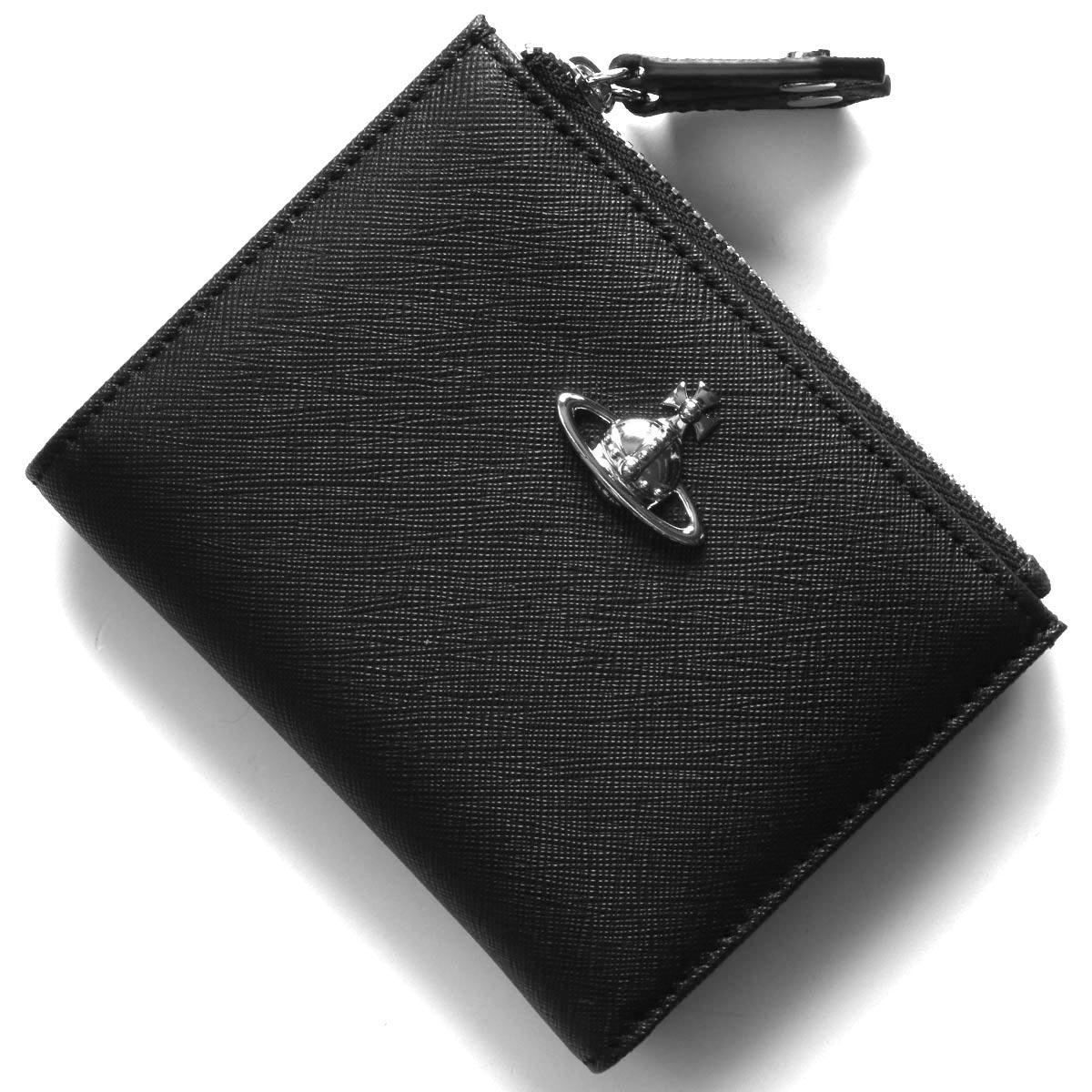 ヴィヴィアンウエストウッド 二つ折り財布 財布 メンズ レディース ヴィクトリア オーブ ブラック 51140013 40565 N404 VIVIENNE WESTWOOD