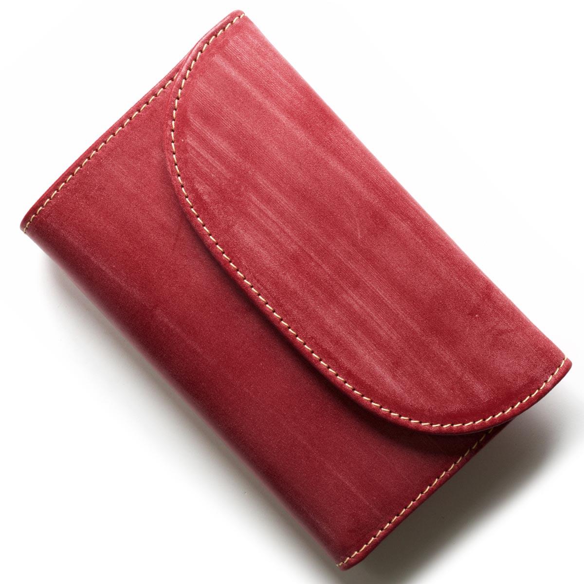 ホワイトハウスコックス 三つ折り財布 財布 メンズ エイジング レッド S1112 RED WHITEHOUSE COX