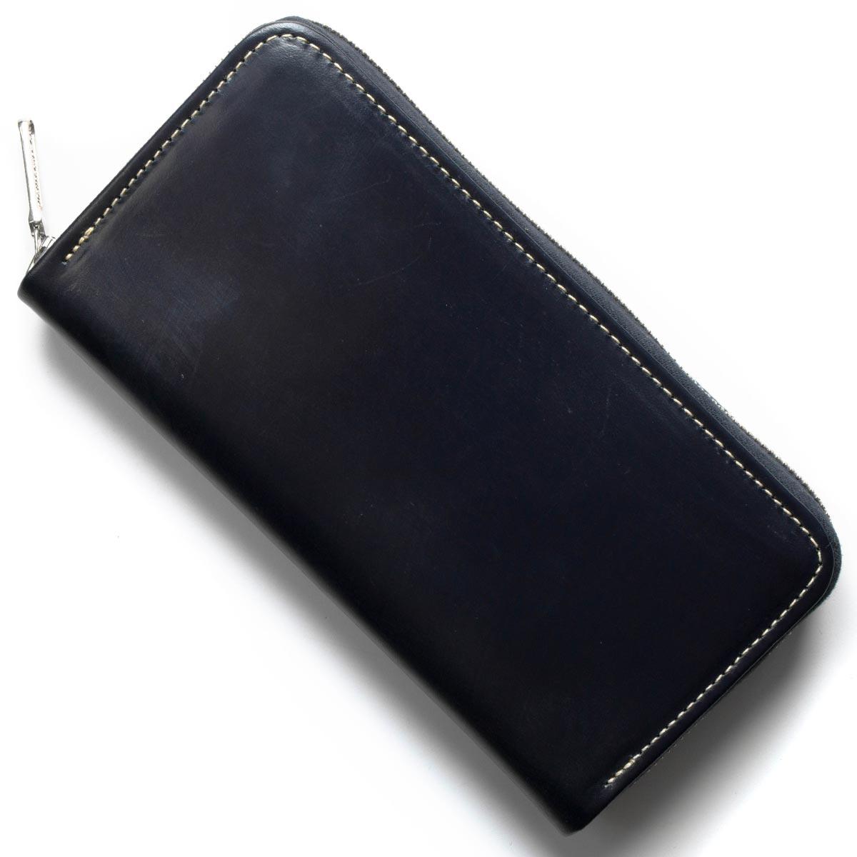 ホワイトハウスコックス 長財布 財布 メンズ エイジング ネイビー S2722 NAVY WHITEHOUSE COX