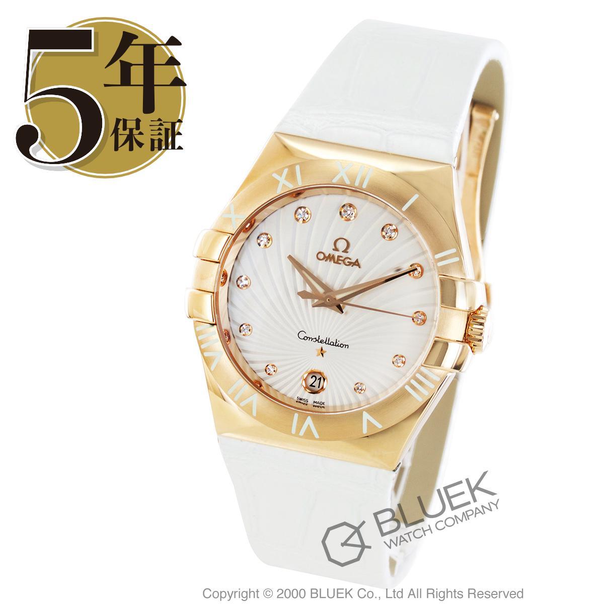 acdcccc2d9 オメガ コンステレーション ダイヤ RG金無垢 アリゲーターレザー 腕時計 レディース OMEGA 123.53.35.60.