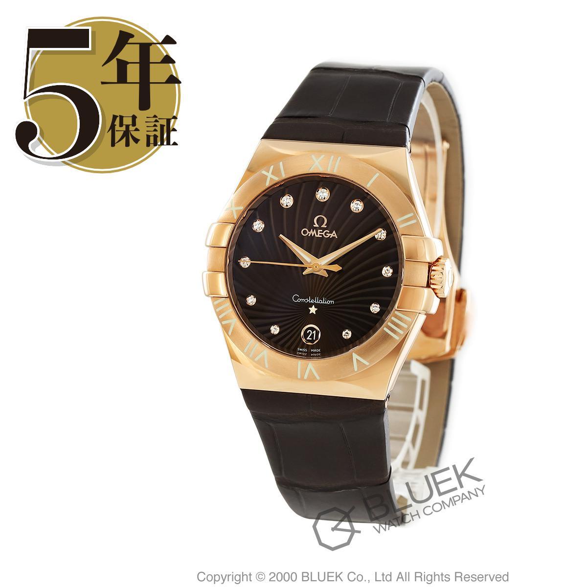 オメガ コンステレーション ダイヤ RG金無垢 アリゲーターレザー 腕時計 レディース OMEGA 123.53.35.60.63.001_8