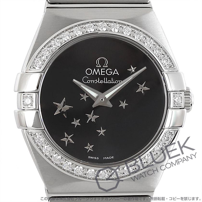 Omega Constellation brushed DIA bezel black ladies mini 123.15.24.60.01.001