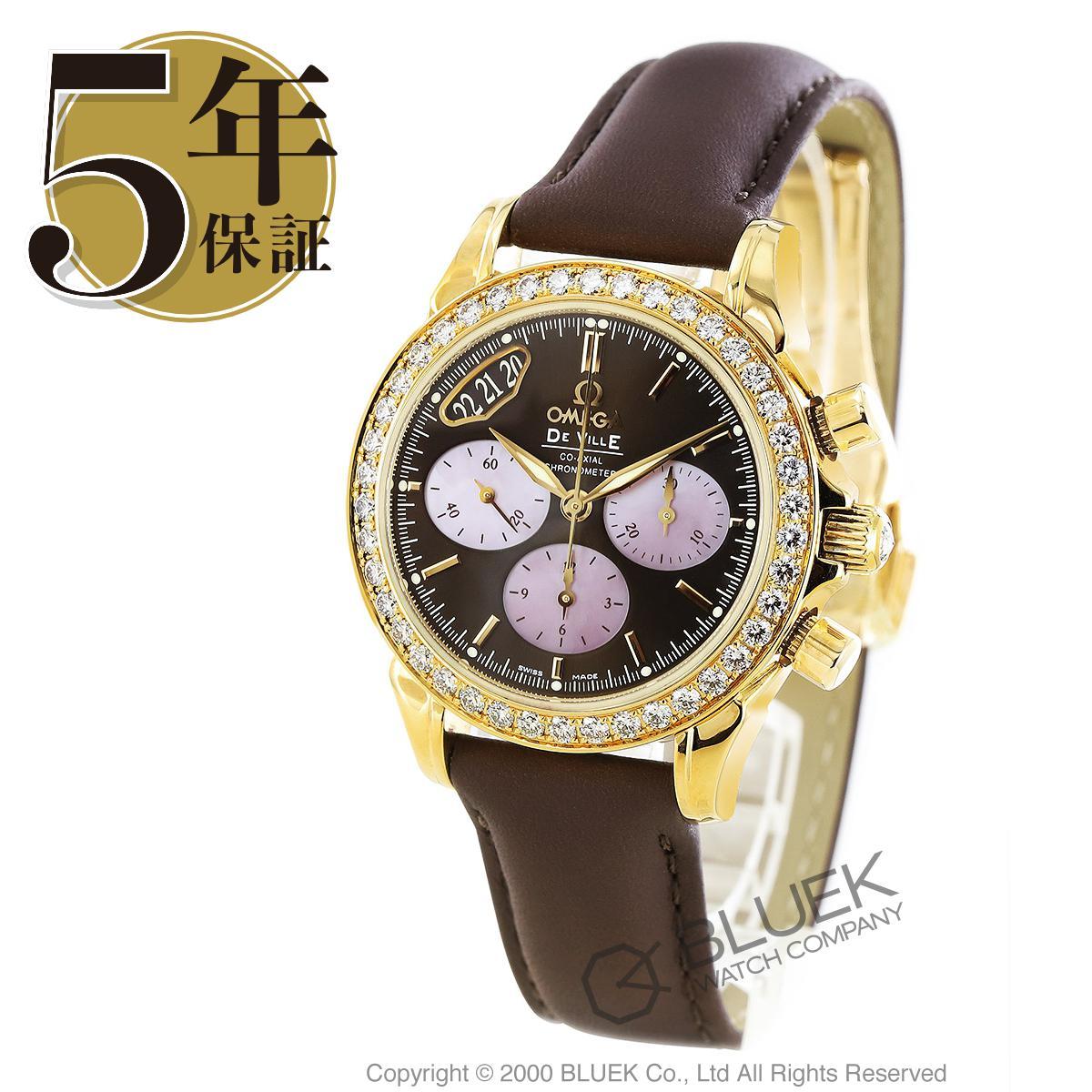 オメガ デビル クロノグラフ ダイヤ YG金無垢 腕時計 レディース OMEGA 4673.60.37_5