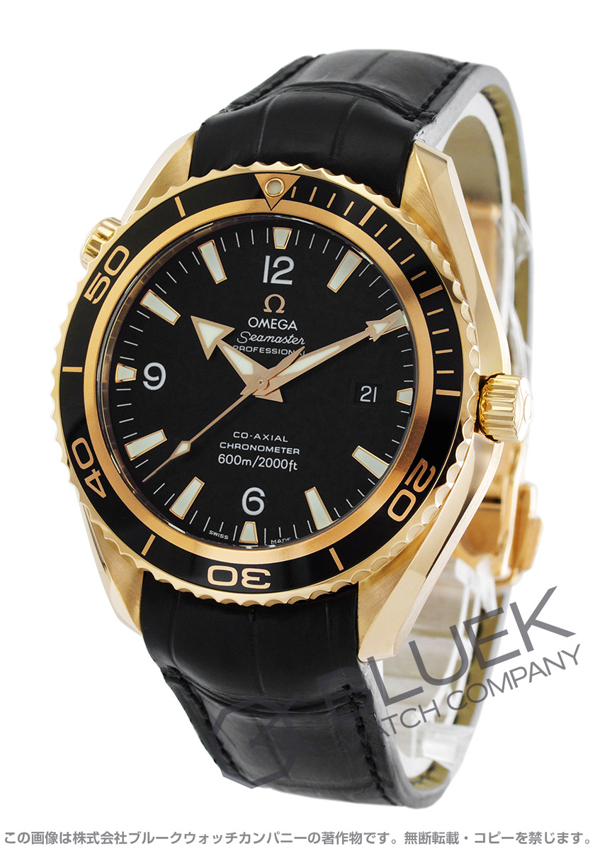 Omega Seamaster Planet Ocean co-axial RG Wilsdorf 600 m waterproof leather black mens 222.63.46.20.01.001