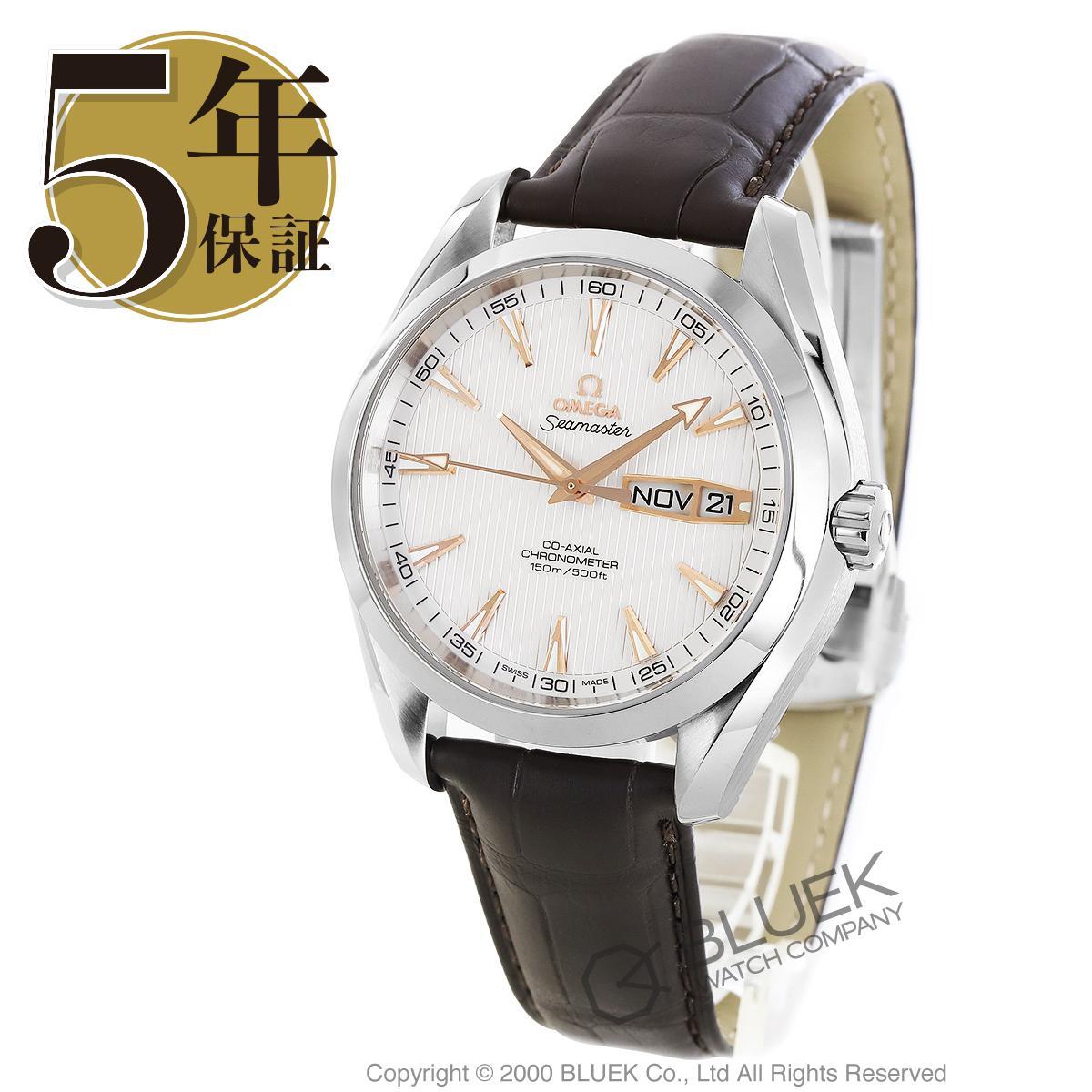 オメガ シーマスター アクアテラ アニュアルカレンダー アリゲーターレザー 腕時計 メンズ OMEGA 231.13.43.22.02.002_5