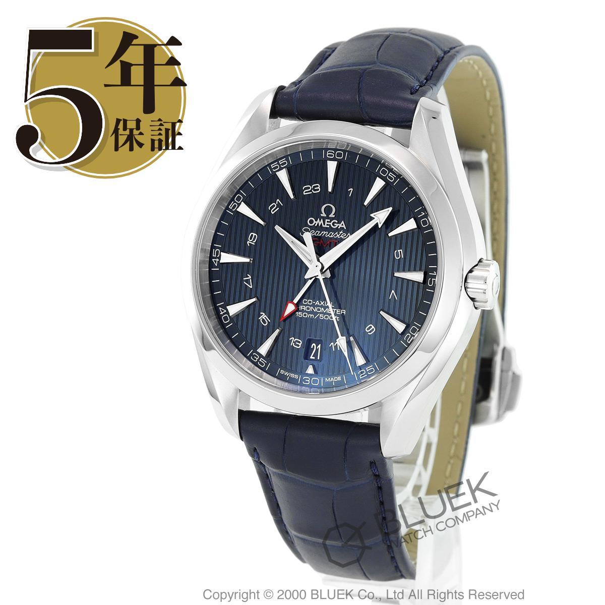 オメガ シーマスター アクアテラ GMT アリゲーターレザー 腕時計 メンズ OMEGA 231.13.43.22.03.001_5