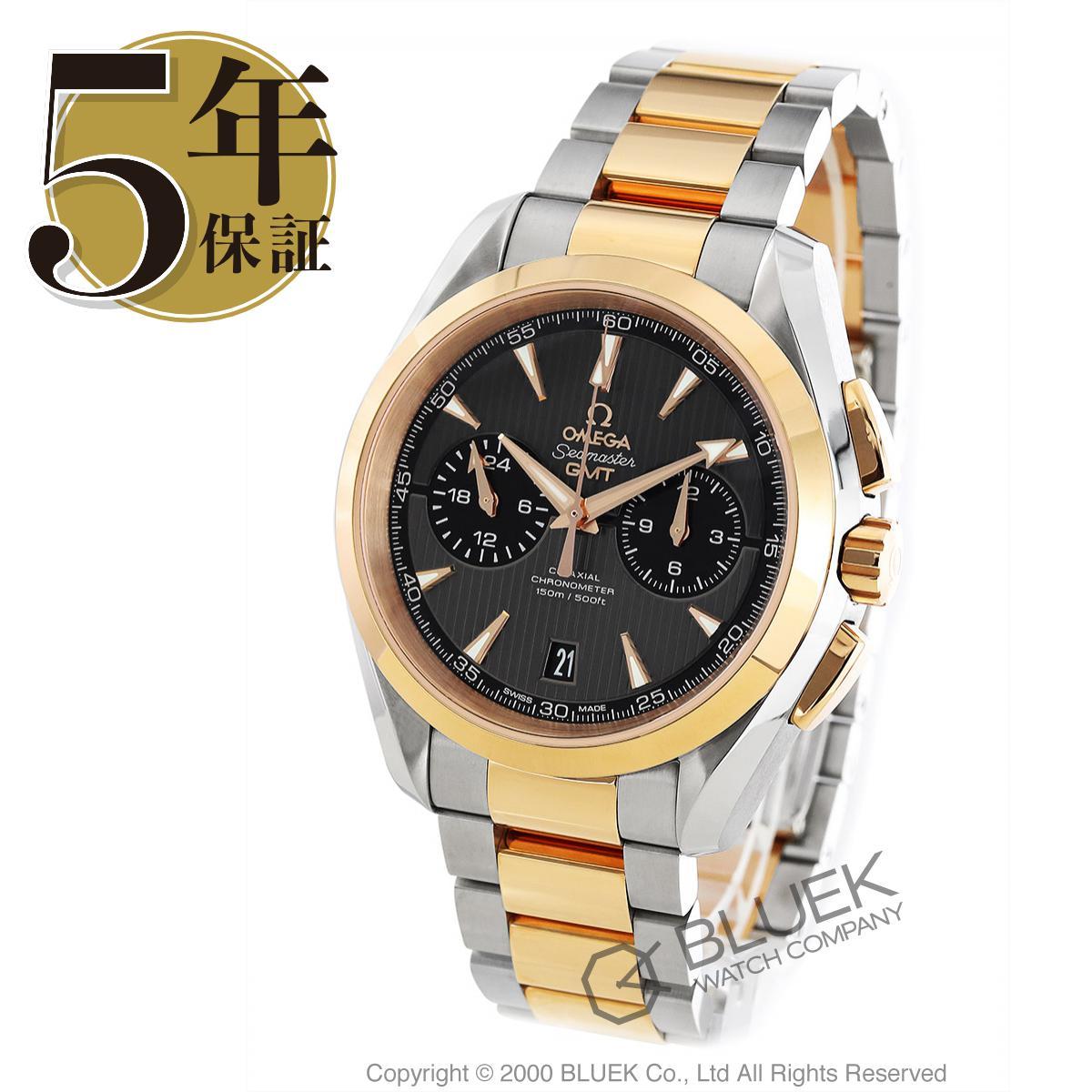 オメガ シーマスター アクアテラ クロノグラフ GMT 腕時計 メンズ OMEGA 231.20.43.52.06.001_5