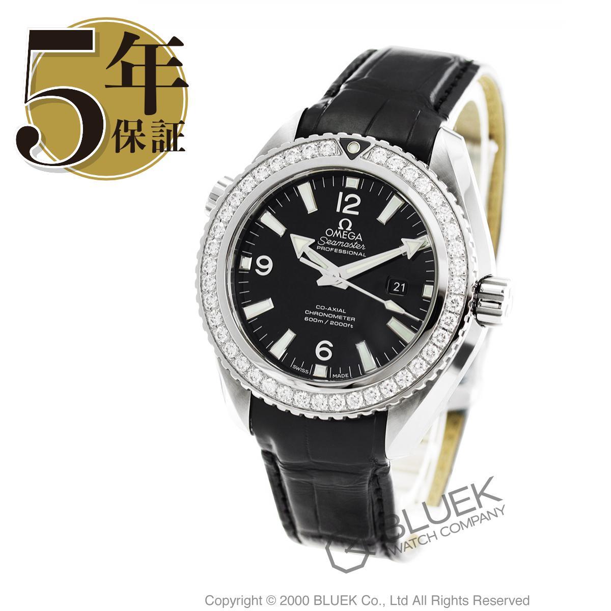 オメガ シーマスター プラネットオーシャン 600m防水 ダイヤ アリゲーターレザー 腕時計 ユニセックス OMEGA 232.18.38.20.01.001_8