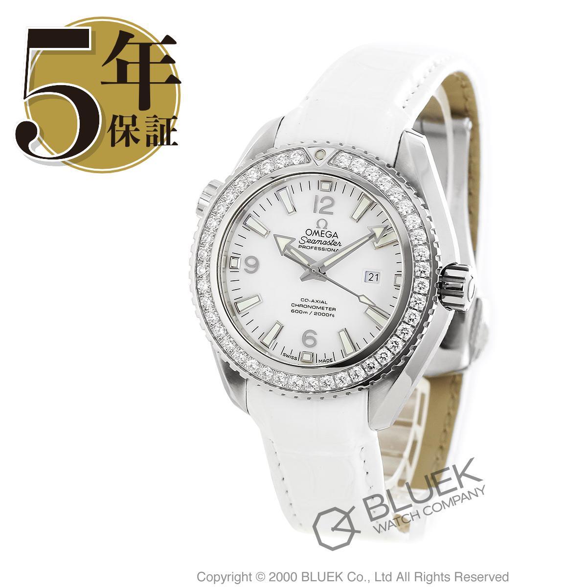 オメガ シーマスター プラネットオーシャン 600m防水 ダイヤ アリゲーターレザー 腕時計 ユニセックス OMEGA 232.18.38.20.04.001_5