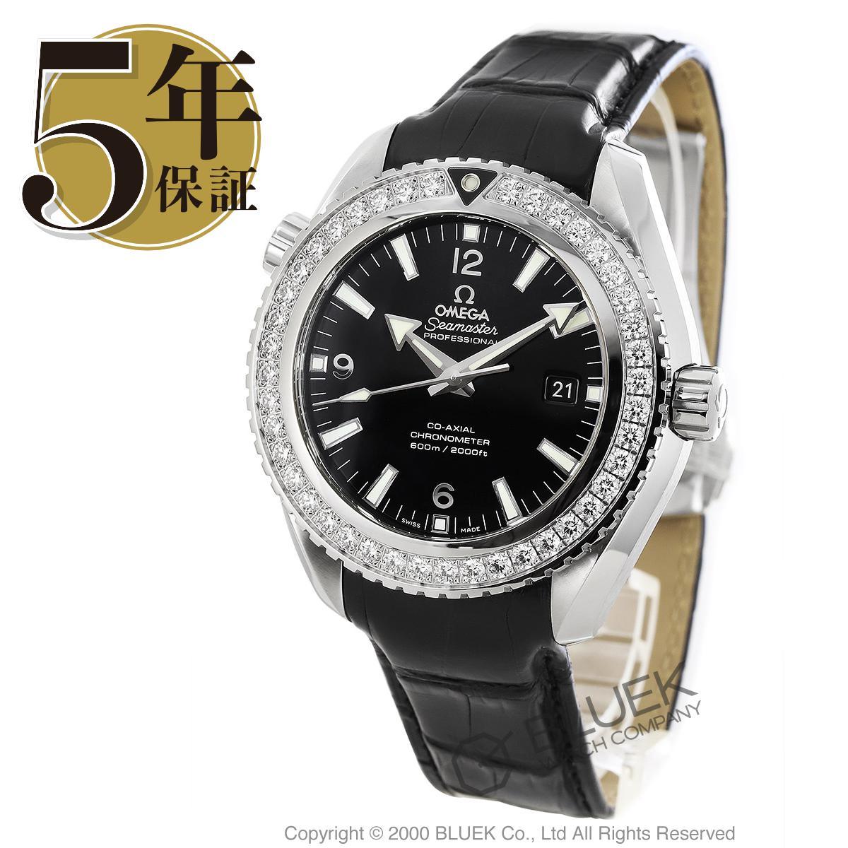 オメガ シーマスター プラネットオーシャン 600m防水 ダイヤ アリゲーターレザー 腕時計 メンズ OMEGA 232.18.46.21.01.001_5