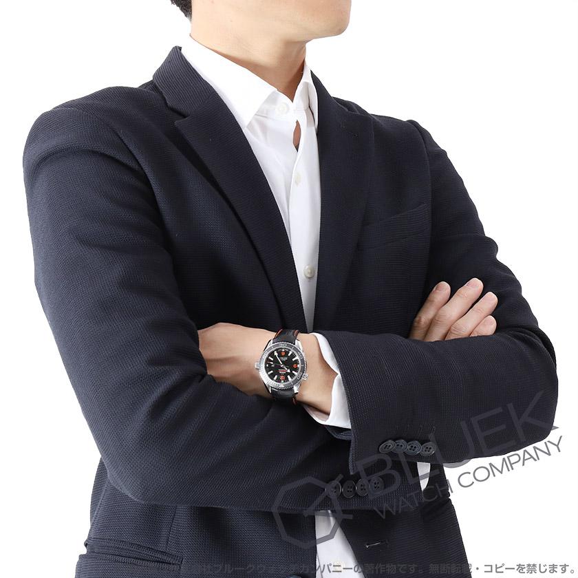 オメガシーマスタープラネットオーシャン600m防水アリゲーターレザー腕時計ユニセックスOMEGA232.33.38.20.01.002