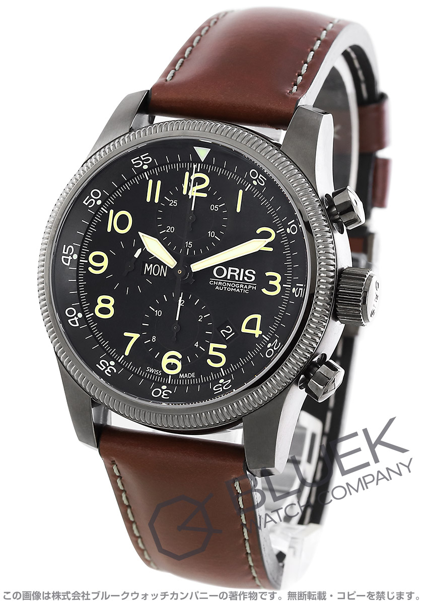 オリス ビッグクラウン タイマー クロノグラフ 腕時計 メンズ ORIS 675 7648 4234