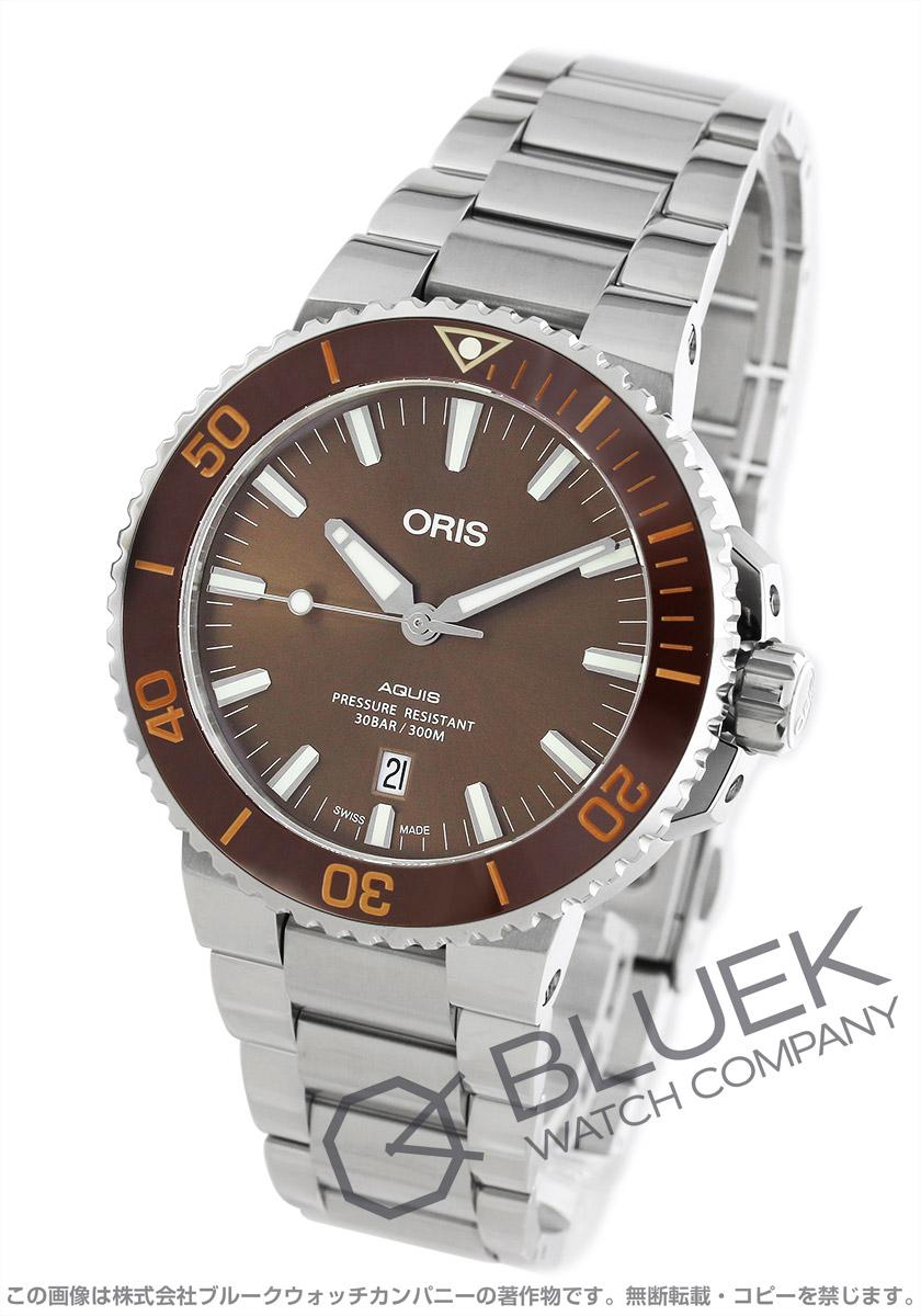 オリス アクイス デイト 300m防水 腕時計 メンズ ORIS 733 7730 4152M