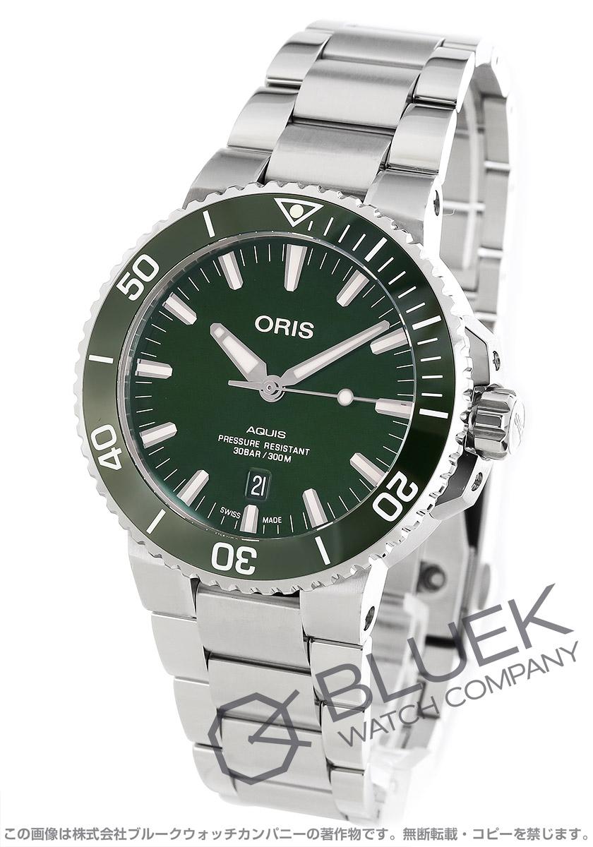 オリス アクイス デイト 300m防水 腕時計 メンズ ORIS 733 7730 4157M
