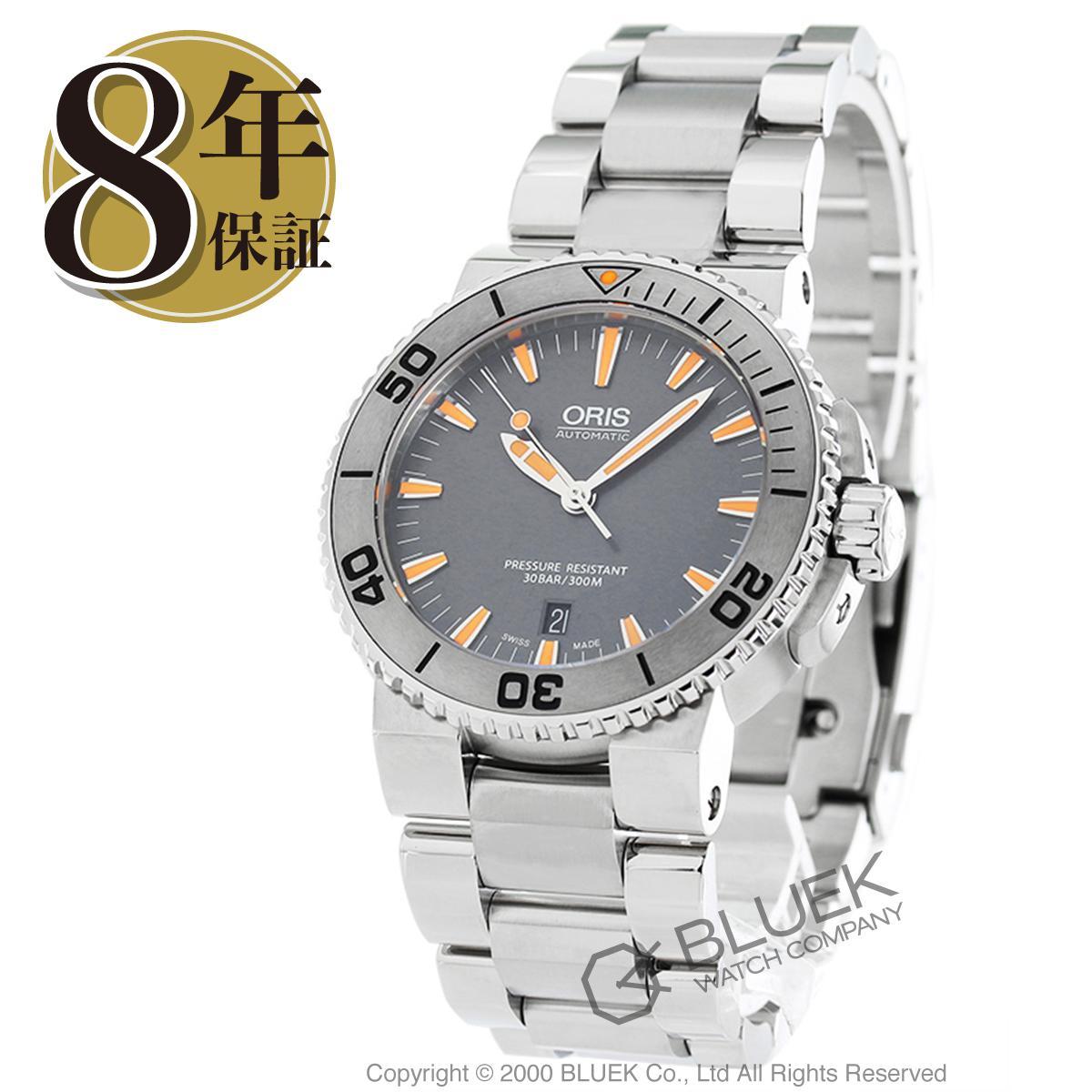 メンズ 743 7664 スモールセコンド オリス アクイス ORIS デイト 500m防水 腕時計 7253R_8