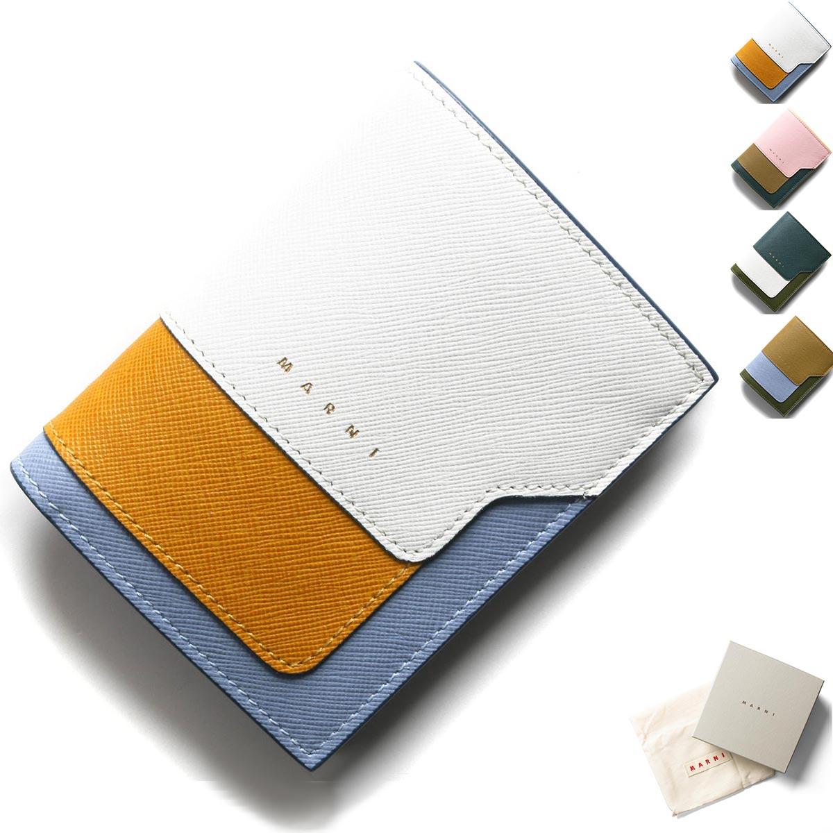 マルニ 二つ折り財布 財布 レディース サフィアーノ PFMOQ14U13 LV520 2020年春夏新作 MARNI
