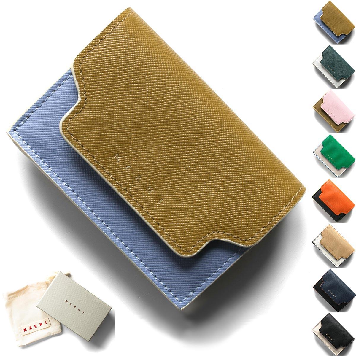 マルニ 三つ折り財布/ミニ財布 財布 レディース サフィアーノ PFMOW02U09 LV520 2020年春夏新作 MARNI