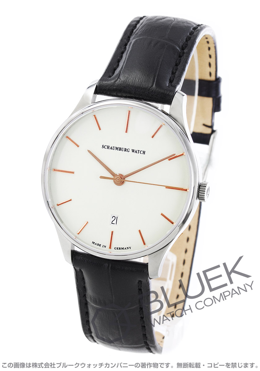 シャウボーグ クラソコ 腕時計 メンズ SCHAUMBURG CLASSOCO-WH