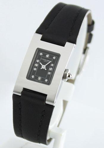 Chaumet stilduseame diamond index leather black ladies W01211-046 watch clock