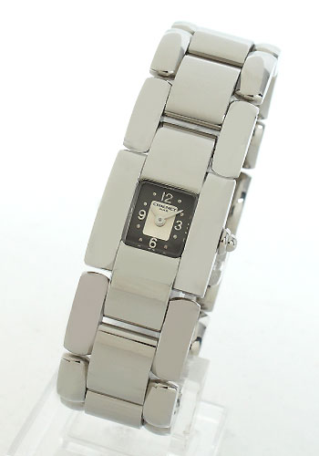 Chaumet cases grey & silver ladies W08610-038 watch clock