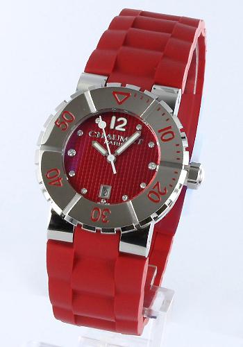 ショーメクラスワンダイヤインデックスラバーレッドレディース W1722P-33R watch clock