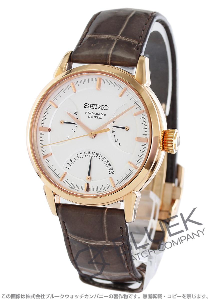 【3,000円OFFクーポン対象】セイコー プレザージュ パワーリザーブ クロコレザー 腕時計 メンズ SEIKO SARD006
