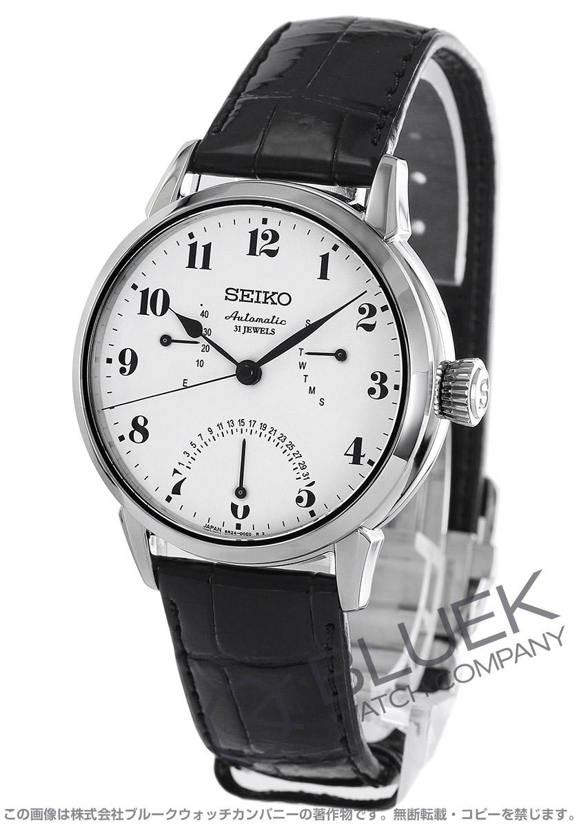 【3,000円OFFクーポン対象】セイコー プレザージュ パワーリザーブ クロコレザー 腕時計 メンズ SEIKO SARD007