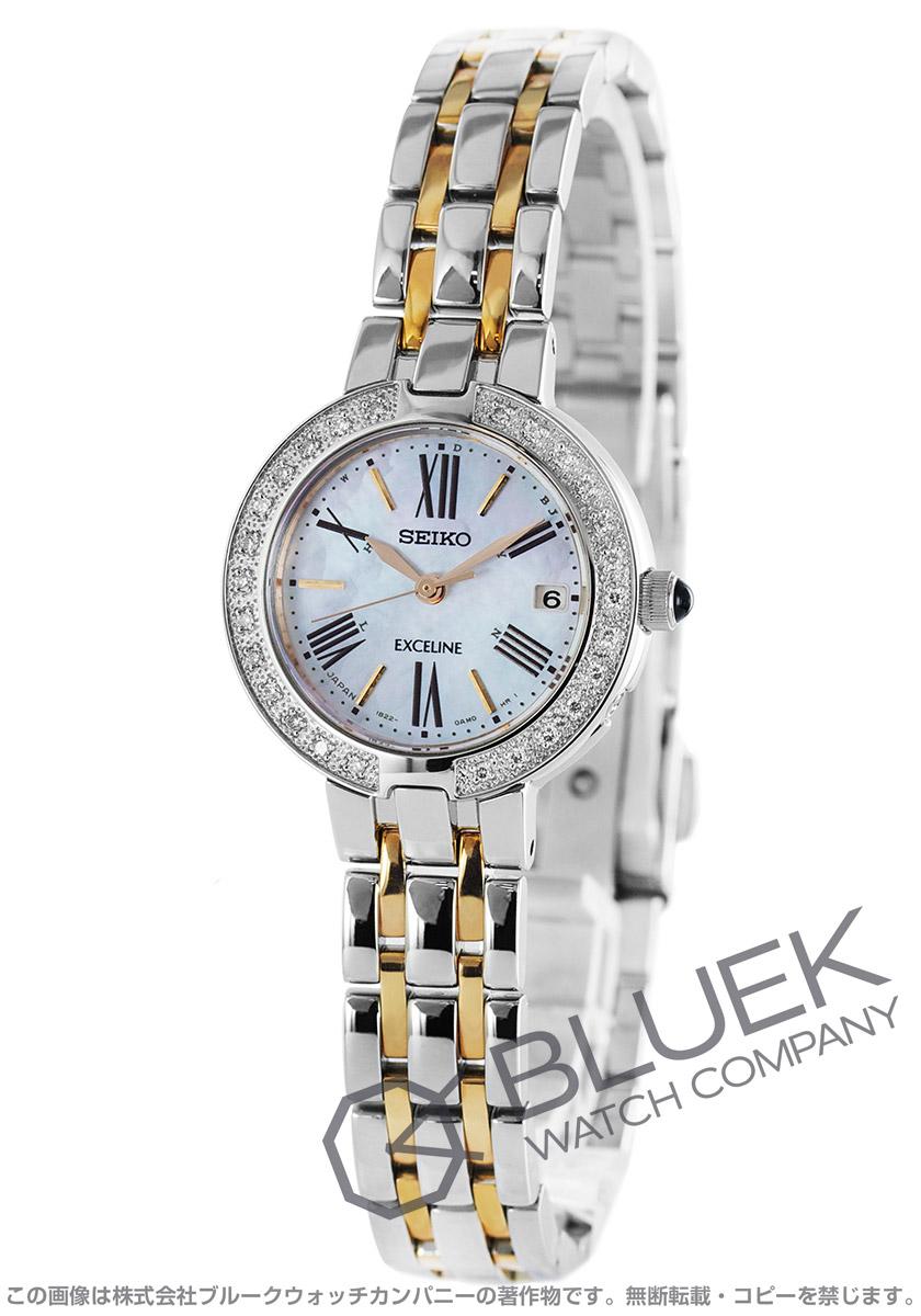 【最大3万円割引クーポン 11/01~】セイコー エクセリーヌ ダイヤ 腕時計 レディース SEIKO SWCW008