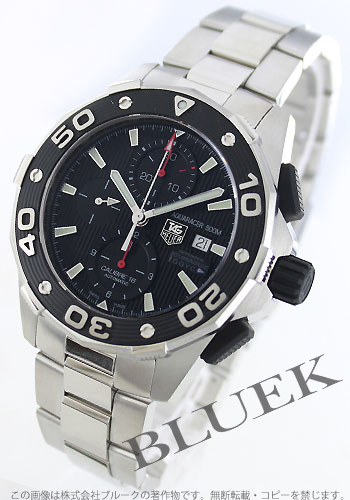 Tag Heuer Aquaracer Calibre 16 automatic chronograph 500 M water resistant black mens CAJ2112... BA0872