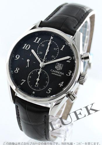 16 タグホイヤーカレラキャリバー heritage automatic chronograph leather black men CAS2110.FC6266