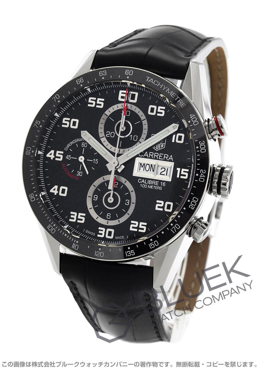 タグホイヤー カレラ クロノグラフ アリゲーターレザー 腕時計 メンズ TAG Heuer CV2A1R.FC6235