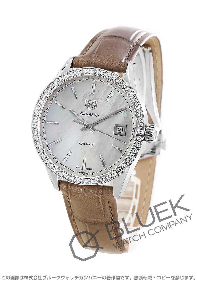 タグホイヤー カレラ レディ ダイヤ アリゲーターレザー 腕時計 レディース TAG Heuer WBK2316.FC8258