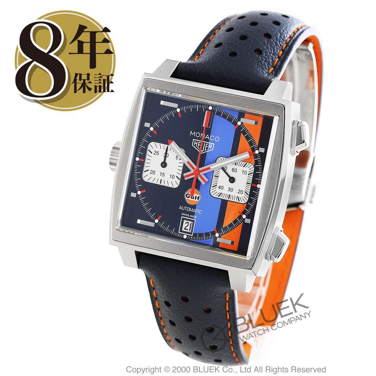 タグホイヤー モナコ キャリバー11 ガルフ スペシャルエディション クロノグラフ 腕時計 メンズ TAG Heuer CAW.211R.FC6401_8