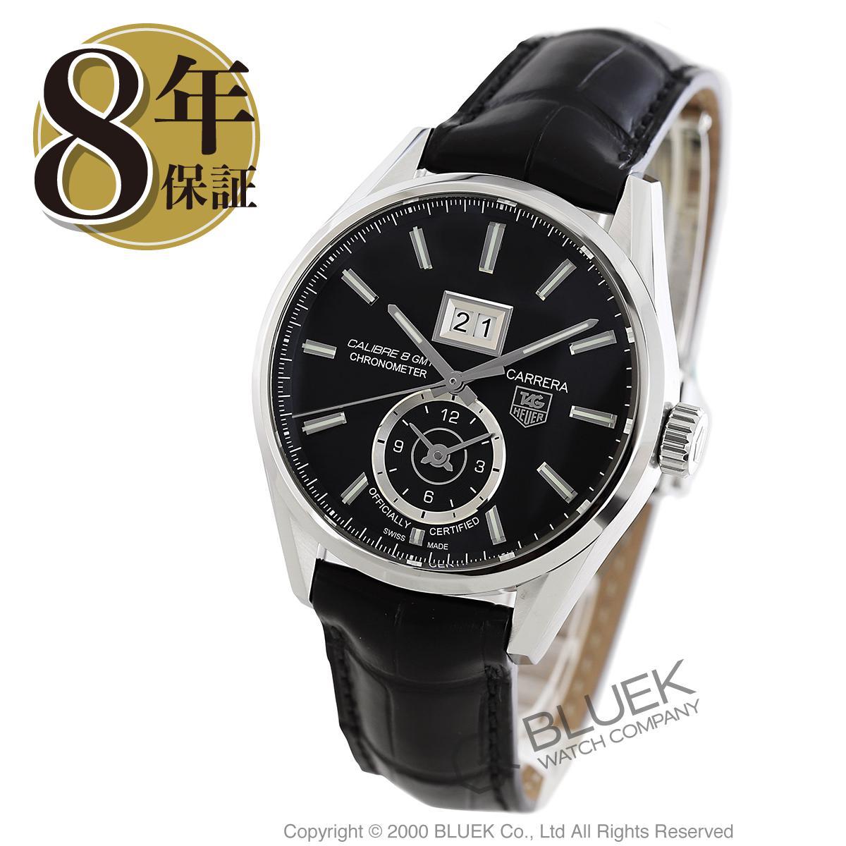 【最大3万円割引クーポン 11/01~】タグホイヤー カレラ グランドデイト GMT アリゲーターレザー 腕時計 メンズ TAG Heuer WAR5010.FC6266_8