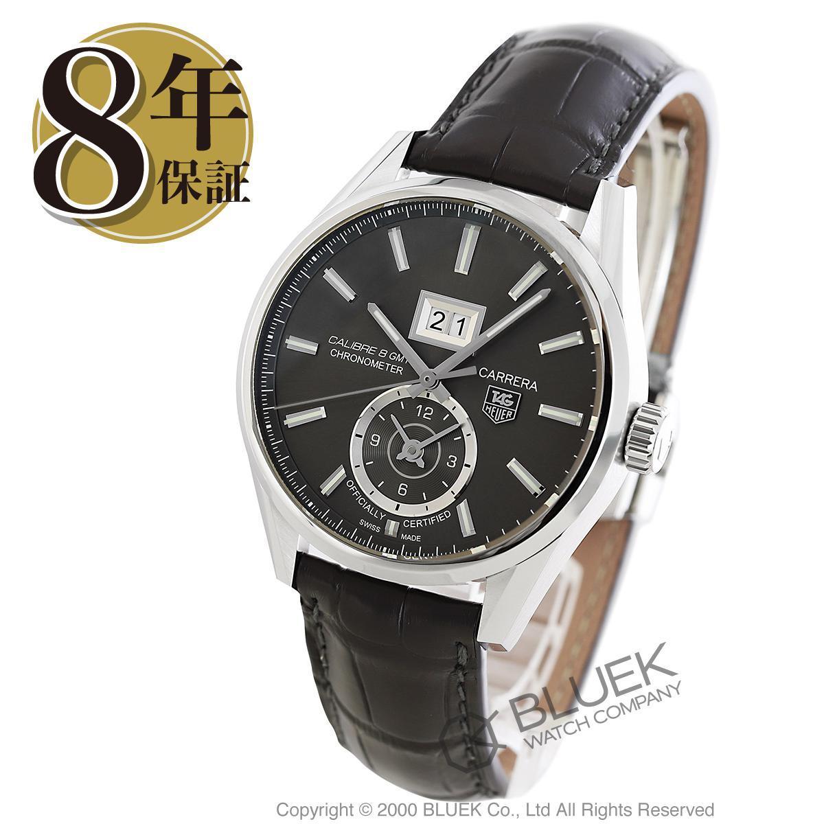 【最大3万円割引クーポン 11/01~】タグホイヤー カレラ グランドデイト GMT アリゲーターレザー 腕時計 メンズ TAG Heuer WAR5012.FC6326_8