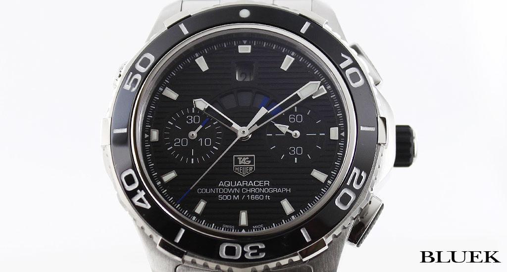 Tag Heuer TAGHEUER Aquaracer 500 m waterproof mens CAK211A... BA0833 watch clock