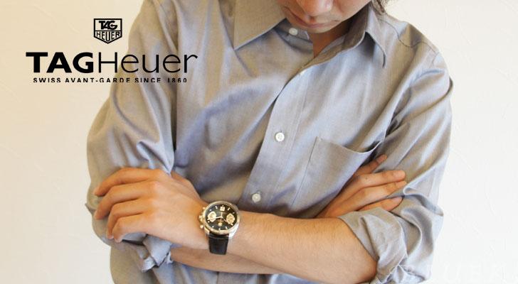 Tag Heuer Grand Carrera chronometer automatic chronograph leather black mens CAV511A. FC6225