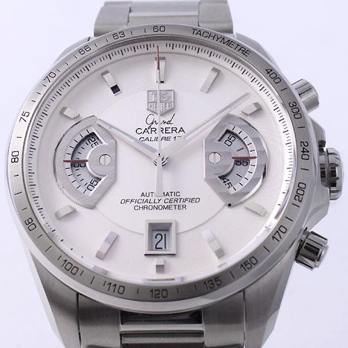 17 タグホイヤーグランドカレラキャリバー chronometer white men CAV511B.BA0902