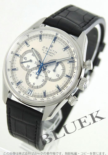 Zenith ZENITH El Primero 36000 VpH alligator leather mens 03.2040.400/04.C496 watch clock