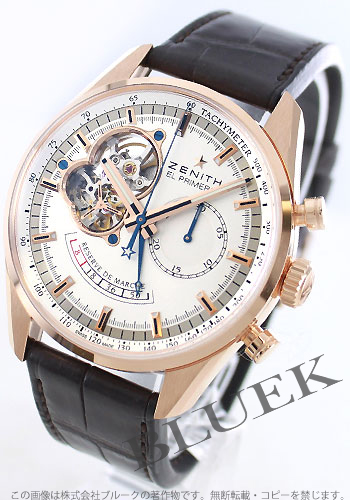 Zenith ZENITH El Primero chronograph master pure gold alligator leather mens 18.2080.4021/01.C494 watch clock