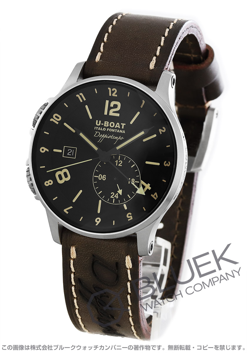 ユーボート 1938 ドッピオテンポ 世界限定200本 デュアルタイム 腕時計 メンズ U-BOAT 8400