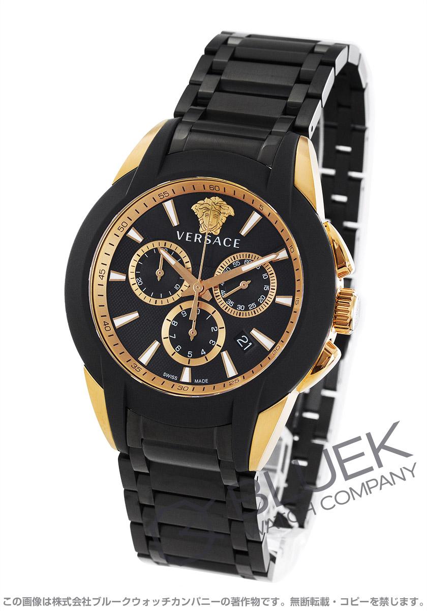 【3,000円OFFクーポン対象】ヴェルサーチ キャラクター クロノ クロノグラフ 腕時計 メンズ VERSACE VEM800418