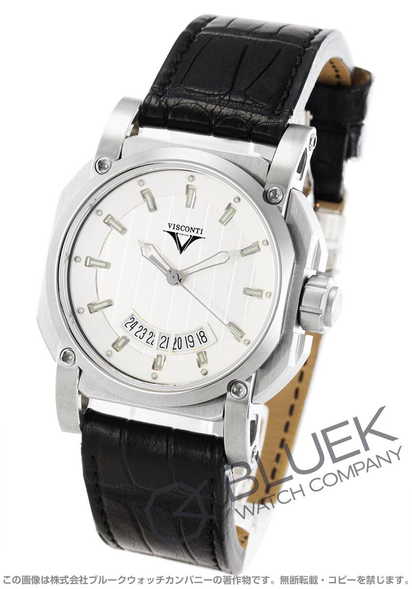 ヴィスコンティ 2スクエアード エレガンス アップ トゥ デイト アリゲーターレザー 世界限定250本 腕時計 メンズ VISCONTI W101-01-101-010