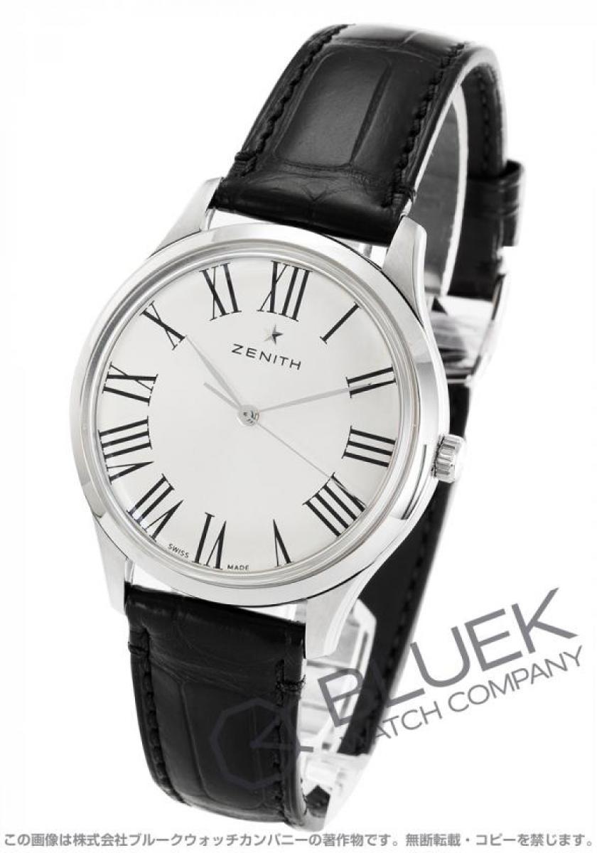 ゼニス エリート クラシック アリゲーターレザー 腕時計 メンズ Zenith 03.2290.679/11.C493