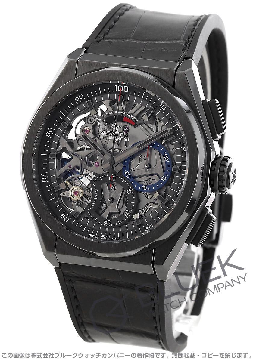 ゼニス デファイ エル プリメロ 21 クロノグラフ パワーリザーブ アリゲーターレザー 腕時計 メンズ Zenith 49.9000.9004/78.R582