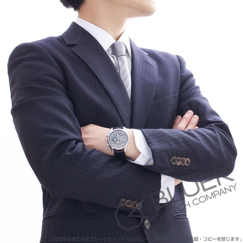 ゼニス エル プリメロ クロノマスター フルオープン クロノグラフ アリゲーターレザー 腕時計 メンズ Zenith 03.2081.400/78.C813